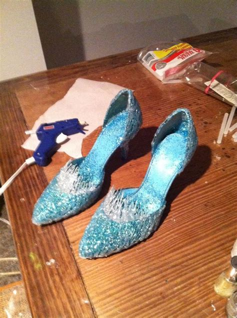 diy elsa shoes my elsa shoes by kennadee deviantart on deviantart