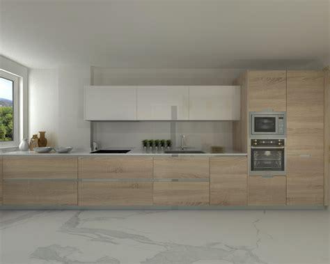 muebles de cocina modernas modelo line e encimera silestone cocinas