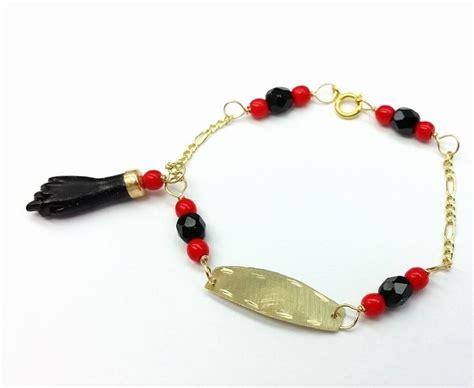 new 10k gold azabache baby bracelet protection from evil
