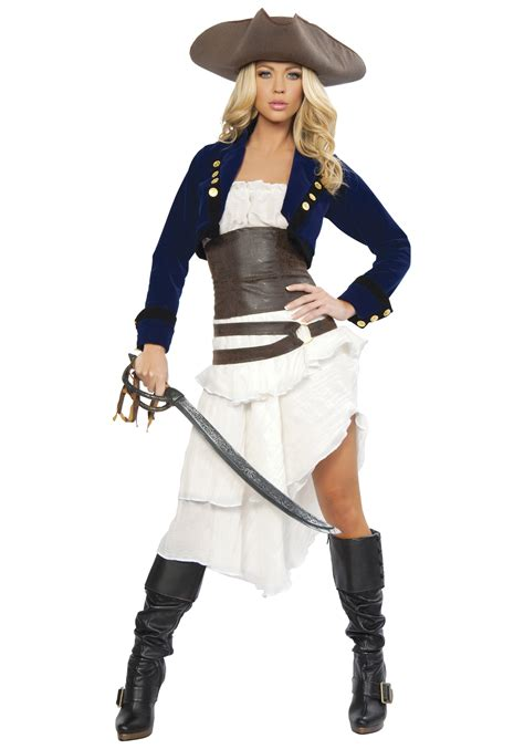 pirate costume womens colonial pirate deluxe costume womens pirate