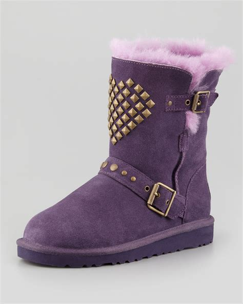 purple ugg boots ugg studded boot purple in purple