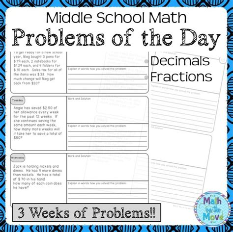 math challenge problems middle school 17 best ideas about daily word on daily