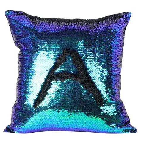 magic reversible mermaid sequins cushion glitter cover