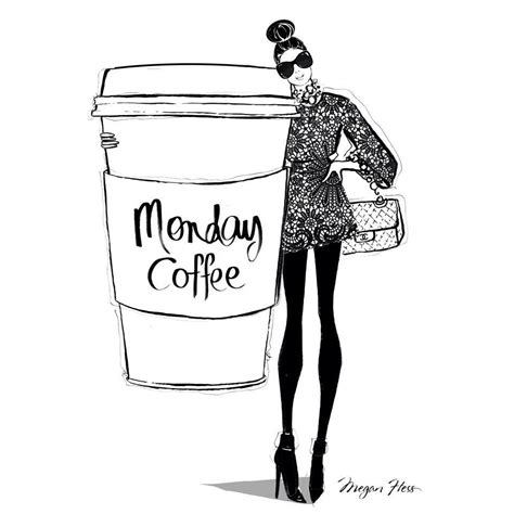 Monday Coffee Meme - monday coffee by megan hess illustration sketch