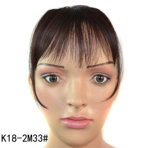 hair extensions for thinning bangs fashion women girl s straight thin dark brown fringe bangs