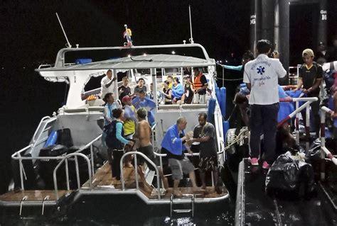 tourist boat sinks off resort island in thailand 33 dead - Tourist Boat Sinks Thailand