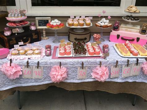 bridal shower dessert table by party envy trueblu