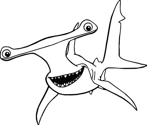 nemo shark coloring pages disney finding nemo anchor coloring pages wecoloringpage