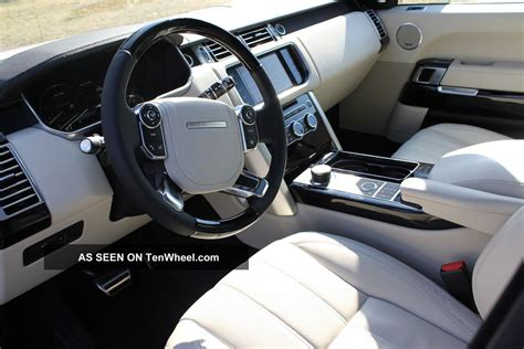 land rover white interior 2013 range rover supercharged sc fuji white ivory