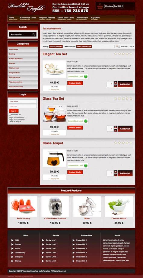 template joomla kaufen premium joomla template quot household quot f 252 r joomla 3