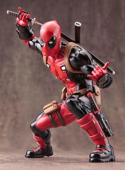 Istimewa Dompet Marvel Deadpool Model 3 Import artfx deadpool marvel pre order us 62 99 specifications painted 1 10th scale articulated