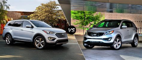 Who Makes Hyundai And Kia Kia Sportage Versus Hyundai Santa Fe Autos Post