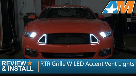 2015 mustang led lights 2015 2017 mustang rtr grille w led accent vent lights