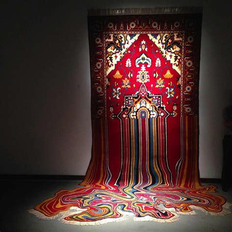 design art lifestyle culture n lifestyle faig ahmed creates psychedelic rugs