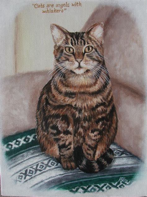 painting cat whiskers your cats are with whiskers painting by steelman