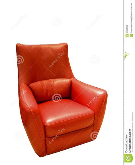 Red Modern Armchair Leather Texture Armchair Royalty Free Stock