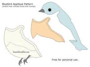 applique templates free buzzinbumble bluebird applique free pattern