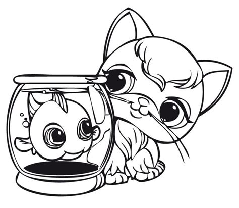 coloring pages vip pets get this cute coloring pages of littlest pet shop 84610