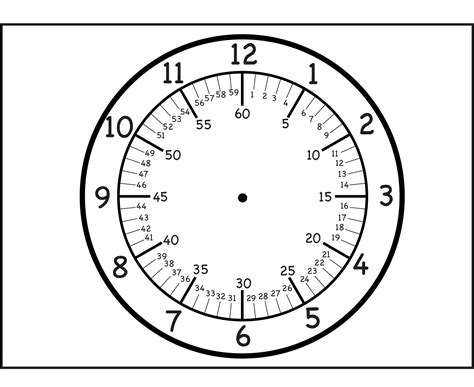 printable analogue clock template blank clock template printable activity shelter
