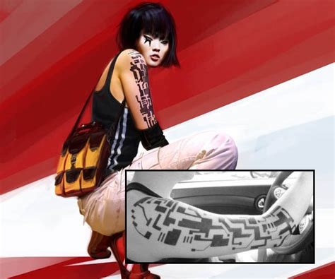 mirrors edge tattoo characters with cool tattoos immosite get