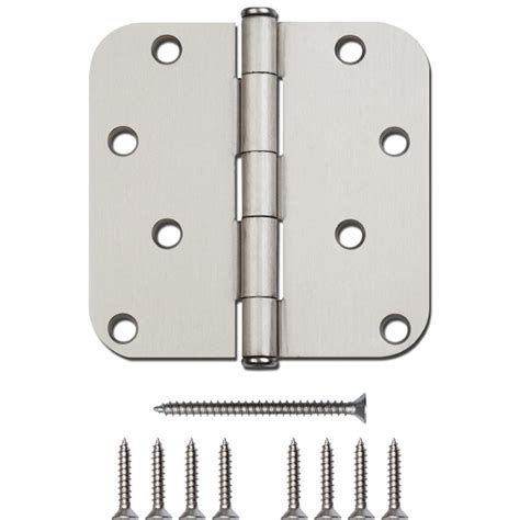 Shop Gatehouse 4 In H Satin Nickel 5 8 In Radius Interior Interior Door Hinge