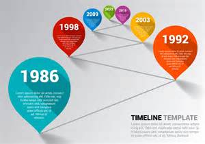 free timeline template vector download free vector art