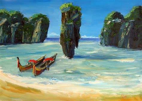paint island mystic landscapes paintings with motifs thailand