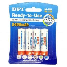 Enelong Bpi Ni Mh Aa Battery 2700mah With Button Top 4 Pcs taffware baterai walkie talkie 1800mah untuk bf uv 5r uv 5ra uv 5rc black jakartanotebook