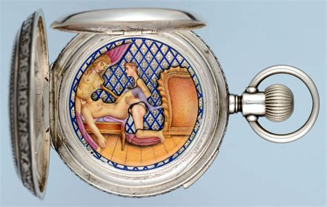 Home Decorative Items antique watches silver hunter with concealed erotic
