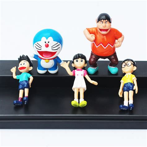 doraemon set 7 5 7cm 5pcs set doraemon figures nobita sizuka takeshi pvc