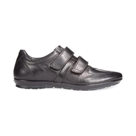 mens black velcro sneakers lyst geox symbol velcro sneakers in black for