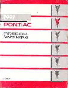 service manual electronic stability control 1991 pontiac firebird auto manual service manual 1991 pontiac firebird trans am factory service manual