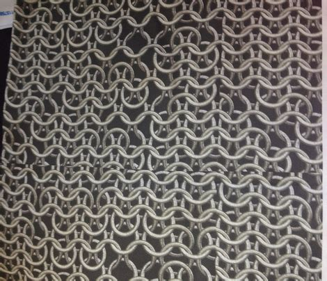 fabrics mail chain mail fabric animotaxis spoonflower