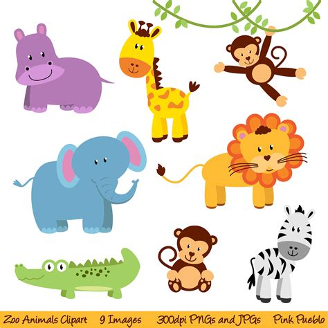 Animals Clipart Images zoo animals clipart free large images