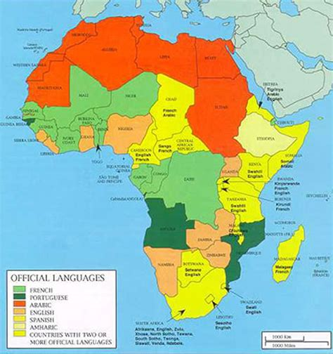 africa map jpg map of languages in africa