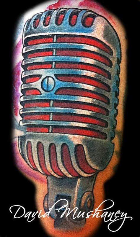egyptian tattoo microphone vintage microphone tattoo by david mushaney tattoonow