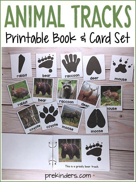 printable animal track cards animal tracks printable book matching cards for