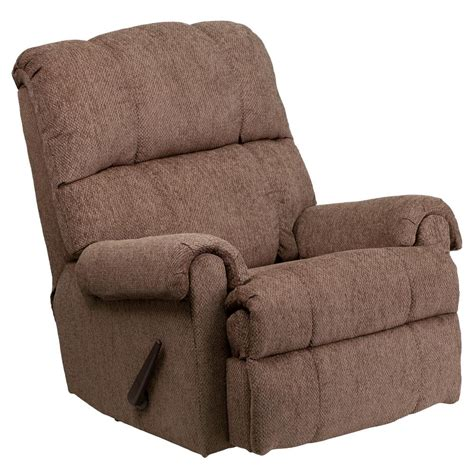 chenille recliner chair flash furniture contemporary tahoe bark chenille rocker
