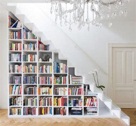 under stairs library design decor the stairs bookcase mini library big chandeliers unique books decoration amazing