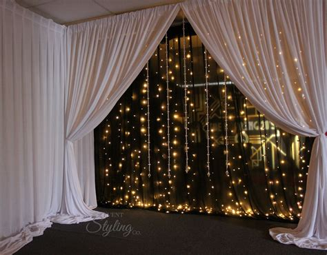 white backdrop with lights lighting and sound event styling co auckland