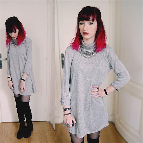 Lamoda Dress by Lea B Yoins Dress Lamoda Boots Grey Dress Lookbook