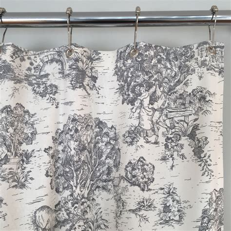 french toile shower curtain grey toile shower curtain