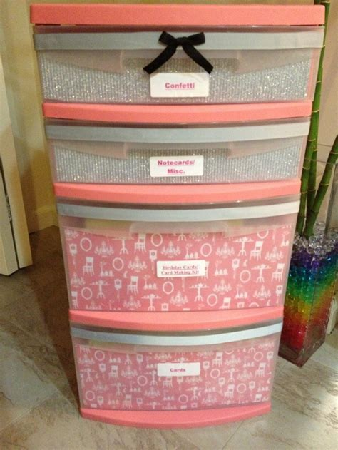 Scrapbook Paper Drawers by 17 Best Ideas About Plastic Storage Drawers On