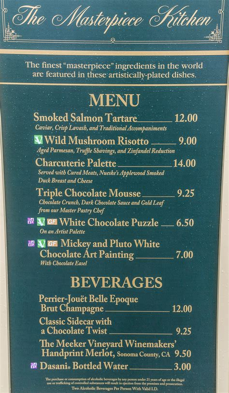 World Kitchen Menu by The Masterpiece Kitchen Food And Drinks Review At The Epcot Arts Festival 2017 Easywdw