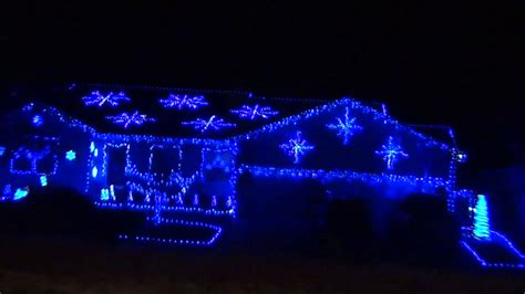 house of blue lights blue christmas lights house in grand junction youtube