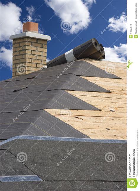 maintenance house roof home maintenance house construction shingles stock