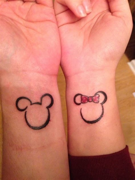 disney couple tattoos matching tattoos for couples mickey and minnie images
