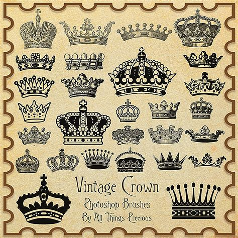 i vintage vintage crowns brushes fbrushes