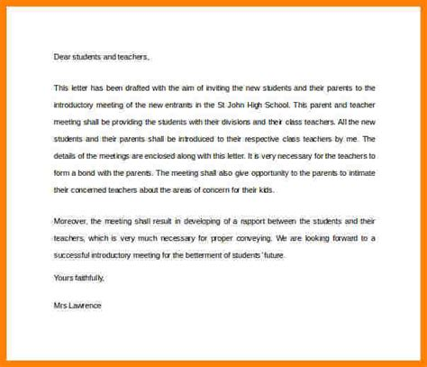 3 introduction letter to parents from template introduction letter