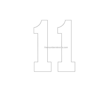 stencil template free football 11 number stencil freenumberstencils